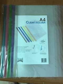 Slide-grip Plastic Folder (5pc pkt)