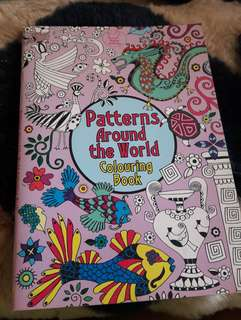 Coloring book Patterns around the world