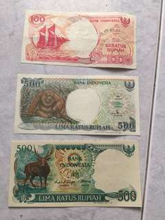 Indonesia old note.