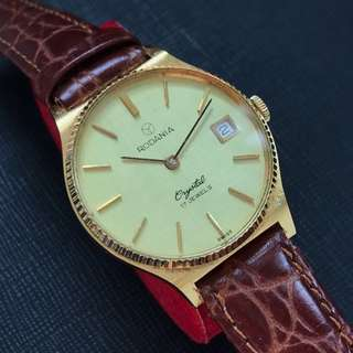 Vintage Rodania Crystal Watch