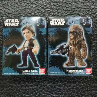Han Solo & Chewbacca CONVERGE mini figure