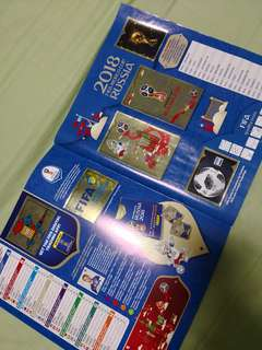 Completed book of Panini FIFA World Cup 2018 Russia (670 version)