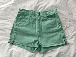 American Apparel High Waisted Shorts - Size 24/25