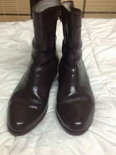 MILKY BROWN LEATHER WORK /DAILY BOOTS SIZE 8 WOMEN