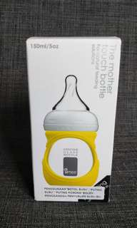 Umee Glass Bottle with Sleeve 150ml - Yellow [FREE SHIPPING]