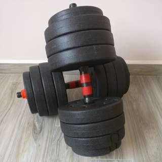 Dumbell set 40kg