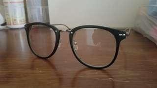 全新流行/造型銀黑鏡架 造型圓框眼鏡