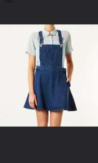 Topshop Denim Pinafore Dungaree