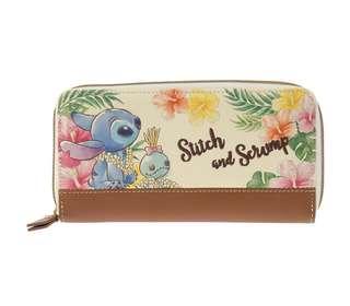 日本 Disney Store 直送 Stitch Day 系列 Stich & Scrump 史迪仔甘仔精美刺繡長銀包