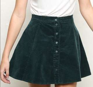 Brandy Melville Corduroy Circle Skirt