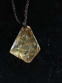 Rutilated Quartz Pendant 钛晶吊坠