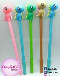 Dinosaur themed gel pens