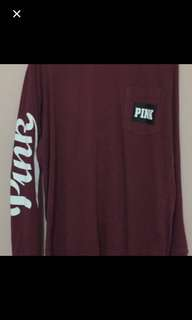 Pink long sleeved