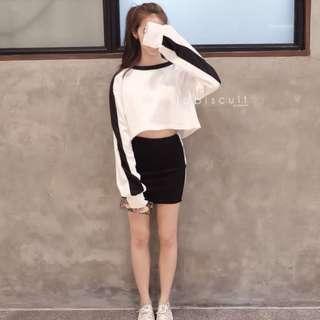 SWEATER BLACK & WHITE
