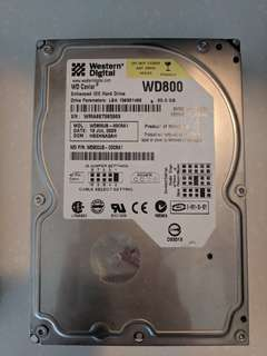Used Hard Disks 80-250 gb ide