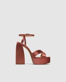 NEW! Zara heeled platform sandal