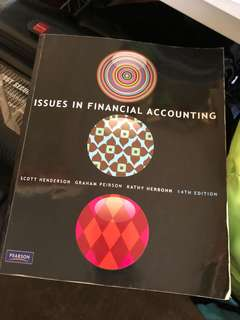 Issues in financial accounting 14th ed