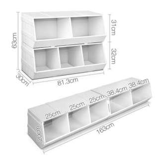 Kids Bathroom Storage Childs Toy Box Organiser Laundry Cabinet Living Room White