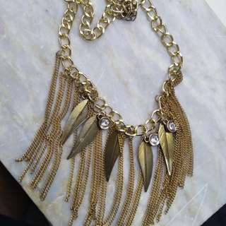 Feather Bohemian Necklace