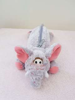 Elephant pencil case with zip