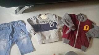 take all for only 200.00 shorts,lingsleeve and jacket