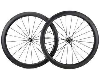50mm Carbon Wheelset Wide U-shape design