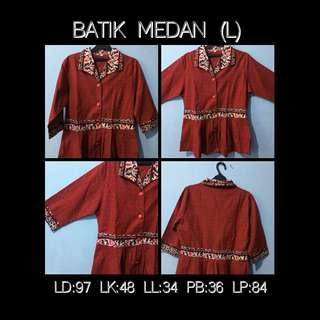 Maroon Batik Peplum