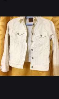 Levis White Denim Jacket