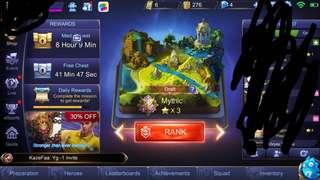 Mobile legend iOS mythic acc