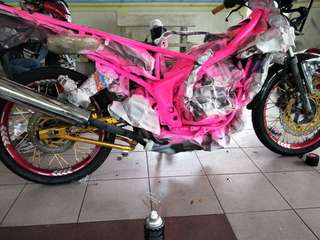 Bike Spray Painting Service !!!