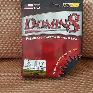 Tuf Line (Domin8) fishing braid 300 yards 20lbs