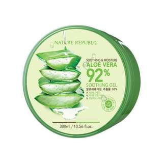 AUTHENTIC Nature Republic 92% Aloe Vera Soothing Gel