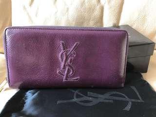 100% Real YSL Saint Laurent Long Wallet