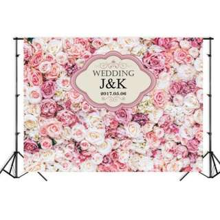 Wedding Floral Photobooth Backdrop
