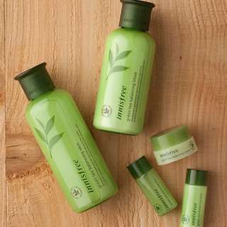 AUTHENTIC Innisfree Green Tea Balancing Skin Care Set