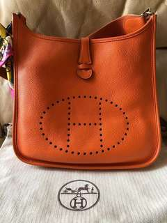100% Real Hermes Evelyn Evelyne Bag