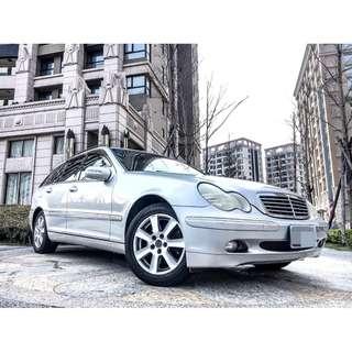 全額貸。2004年 BENZ C240 4WD 全原鈑件 海關證明齊 多功能方向盤 皮椅 八安全氣囊 可履約保證無重大事故泡水非營業用車