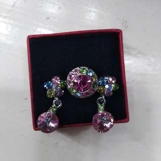 Earrings and Ring Swarovski