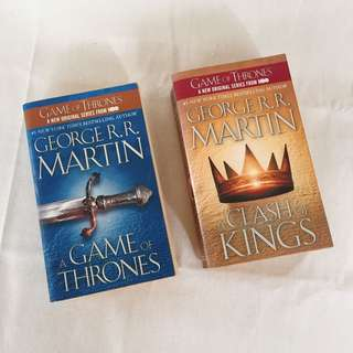 A Game of Thrones and a Clash of Kings by George RR Martin
