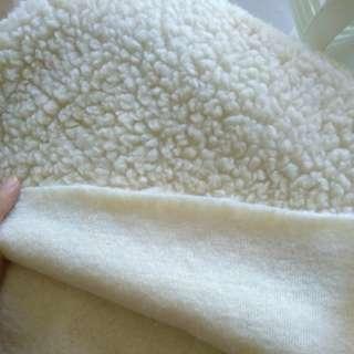 Milk cream lambswool fur fabric
