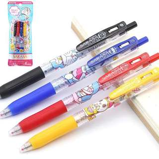 Zebra Japan Doraemon sarasa pen set of 4
