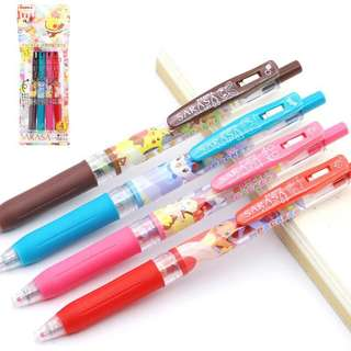 Zebra japan pokemon sarasa pen set of 4