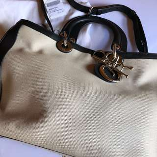 Dior Bag (white with black borders ) with dust bag