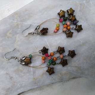 Cute Beaded Star Earrings