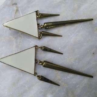 Oversized Triangle Earrings