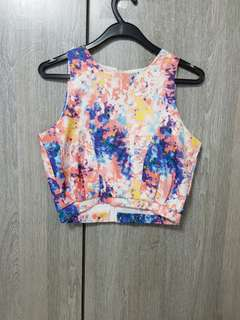 Vibrant abstract Crop Top