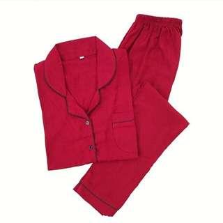 Red longpants piyama