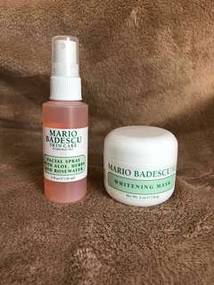 BN Mario Badescu Facial Spray (Aloe, Herbs and Rosewater) and Whitening Mask