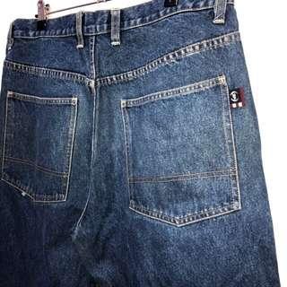 伏見古著 美國品牌PHATFARM復古藍牛仔褲 工裝褲 vintage