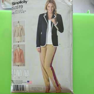 Simplicity paper pattern